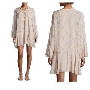 NWOT Iro Ralene Printed Chiffon Shift Dress Size36
